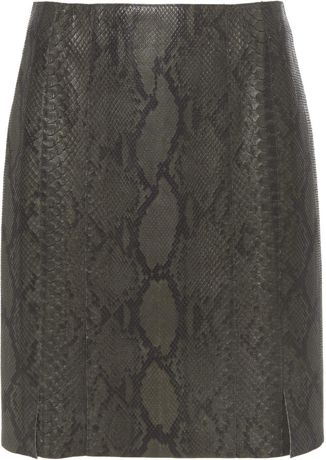 62225a650b Leather Pencil Skirt - ShopStyle UK
