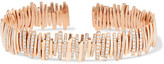 Suzanne Kalan 18-karat Rose Gold Diamond Cuff - one size