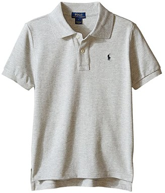 Polo Ralph Lauren Basic Mesh Polo (Little Kids/Big Kids) (New Grey Heather) Boy's Short Sleeve Knit