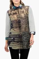 Desigual Mixed Fabric Tunic