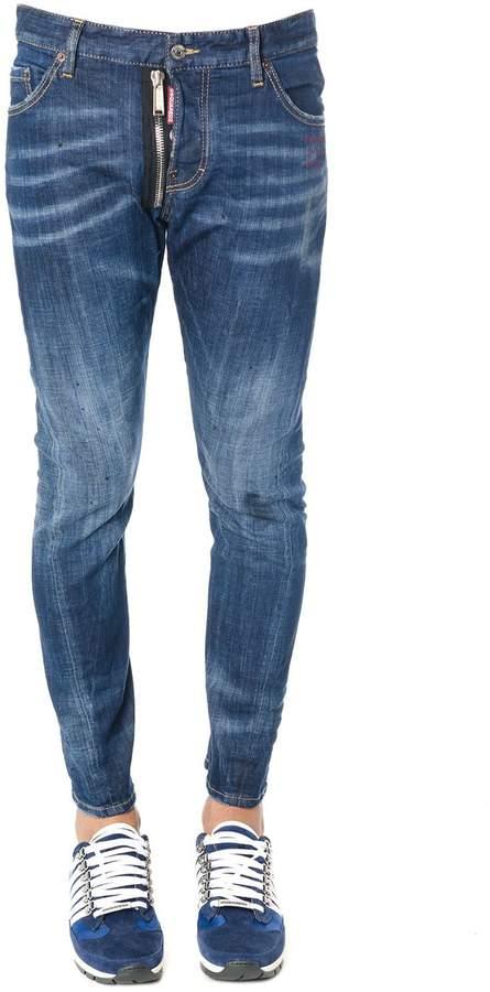 DSQUARED2 Blu Denim Stretch Skinny Fit Jeans