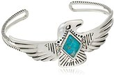 Barse Sterling Silver and Genuine Turquoise Cuff Bracelet