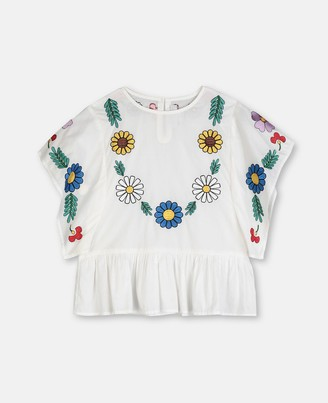 Stella McCartney flowers cotton blouse