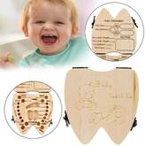 Susenstone Tooth Box Organizer for Baby Milk Teeth Save Wood Storage Tooth Box Lanugo Collecting Teeth Gift