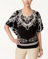 JM Collection Printed Studded Top, Only at Macy's