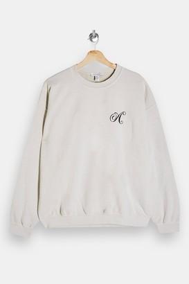 Topshop TALL Ecru Alphabet Letter A Sweatshirt
