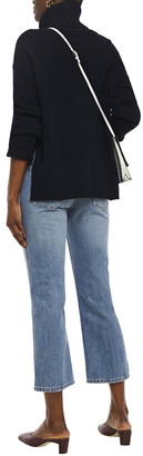 Current/Elliott The 5-pocket Vanessa Cropped Canvas-trimmed High-rise Straight-leg Jeans