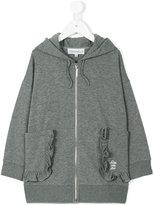 Simonetta ruffled trim hoodie - kids - Cotton/Spandex/Elastane - 4 yrs