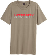 H&M T-shirt with Printed Design - Taupe - Men