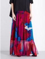Diane von Furstenberg Danica silk-chiffon maxi skirt