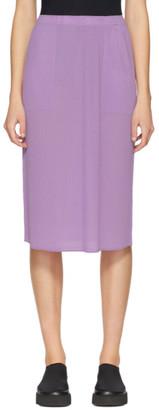 Issey Miyake Purple Pleated Skirt