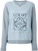 Loewe logo-print panelled sweatshirt - women - Cotton - M