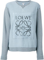 Loewe logo-print panelled sweatshirt - women - Cotton - S
