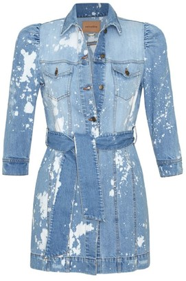 retrofete Lema Denim Splatter Dress