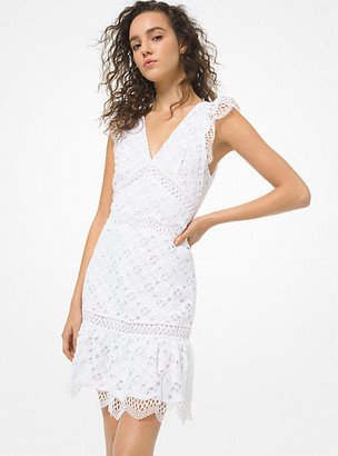 MICHAEL Michael Kors MK Lace Dress - White - Michael Kors