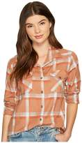RVCA Jig 5 Top Women's Long Sleeve Button Up