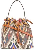 Etro Ikat drawstring bag - women - Calf Leather/PVC/Polyester/Cotton - One Size