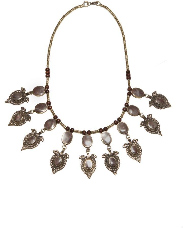 Natalie B Jewelry Chiara Necklace in Rose Mountain Jasper