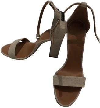Victoria Beckham Grey Cloth Sandals