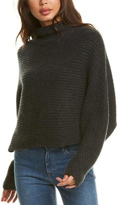Naadam Cashmere Naadam Funnel Neck Cashmere Poncho Sweater