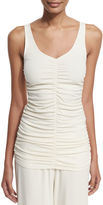 The Row Damia Ruched V-Neck Tank