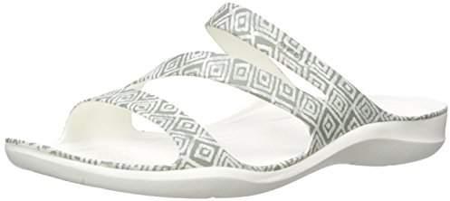 Crocs (クロックス) - [クロックス] サンダル スウィフトウォーター グラフィック ウィメン 204461 Grey Diamond/White US W9(25 cm)
