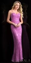 Scala Intricate Beaded Sweetheart Column Evening Dress