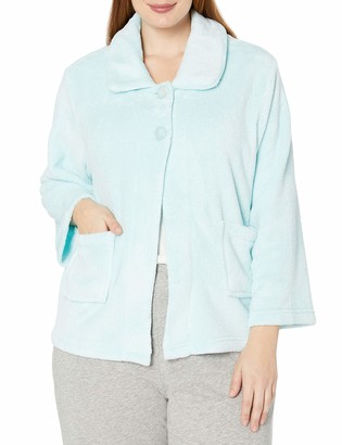 Casual Moments Women's Plus Size Bed JacketPeter Pan Collar Robe