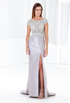 Terani Couture E3791 Crystal Embellished Long Gown with Slit