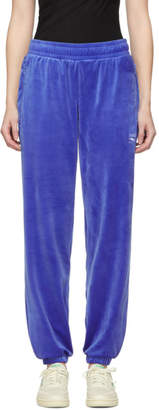 Vector Reebok Classics Blue Velour Lounge Pants