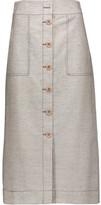 3.1 Phillip Lim Wool and linen-blend midi skirt