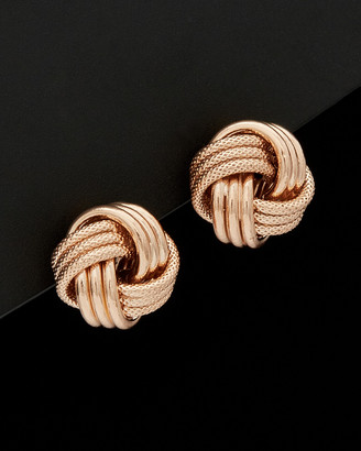14K Italian Rose Gold Love Knot Studs