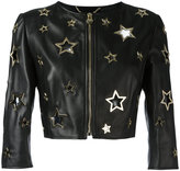 Philipp Plein Bolero pelle Cannot jacket - women - Lamb Skin - S
