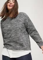 Violeta BY MANGO Flecked Cotton-Blend Sweatshirt