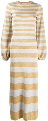 Bella Freud Glittered Stripe Knitted Dress