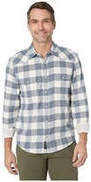 Lucky Brand Santa Fe Western Shirt (Blue Plaid) Men's Clothing