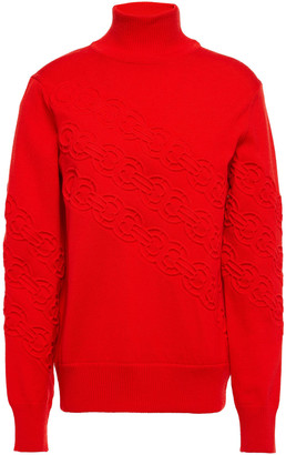 Tory Burch Embossed Merino Wool Sweater
