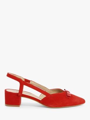 John Lewis & Partners Belinda Suede Bow Slingback Court Shoes