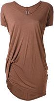 Rick Owens longline T-shirt - women - Silk/Viscose - 40