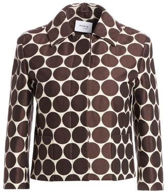 Akris Punto Cropped Dotted Jacket