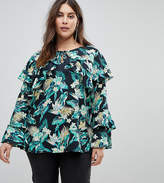 Koko Floral Print Blouse With Long Sleeves