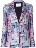 MSGM geometric print blazer