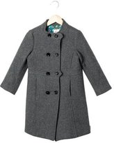 Milly Minis Girls' Double-Breasted Wool Coat