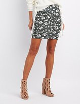 Charlotte Russe Floral Bodycon Mini Skirt