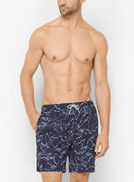 Michael Kors Palm-Print Board Shorts