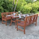 Beachcrest Home Amabel 3 Piece Patio Dining Set