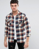 Rvca Flannel Shirt With Flap Pockets