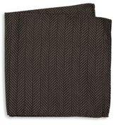 Armani Collezioni Chevron Pattern Pocket Square