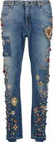 Dolce & Gabbana Embellished low-rise straight leg jeans
