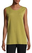 Caroline Rose Long Knit Wool Tank, Leaf, Plus Size